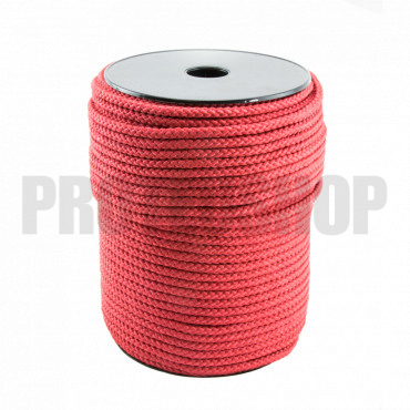 Polypropylene red rope 5 mm braided