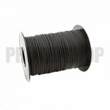 Polypropylene black rope 2mm braided