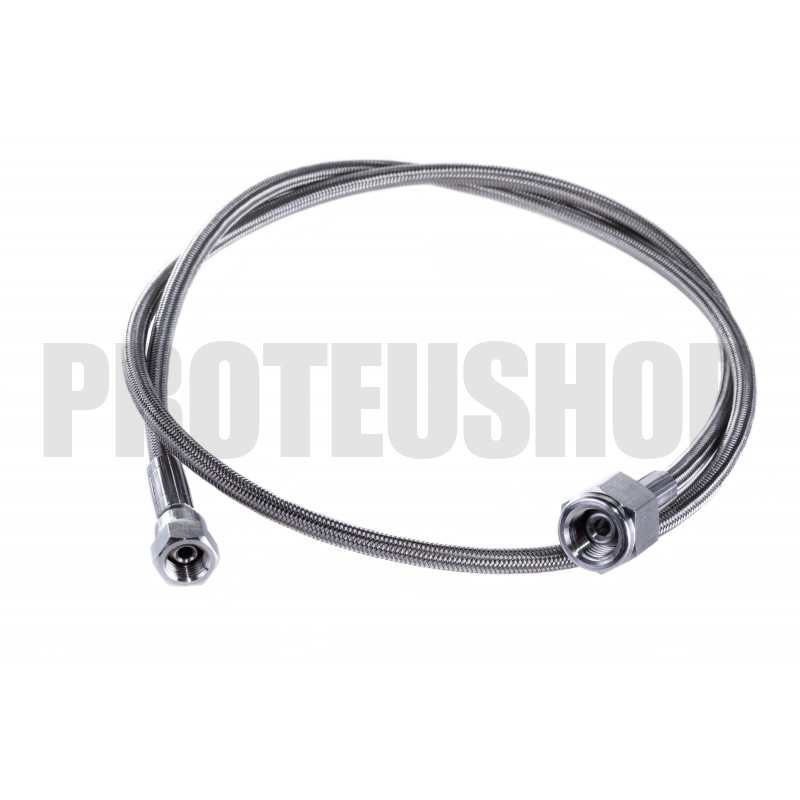 Flexible stainless steel core Teflon 1,0m G1/4 F - G1/8F