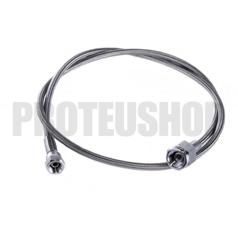 Flexible stainless steel core Teflon 2,8m G1/4 F - G1/4F 90°