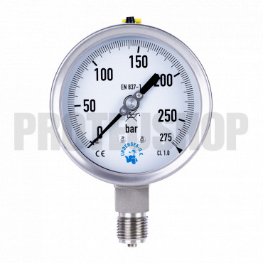 Manómetro 100mm Oxígeno 0-275b