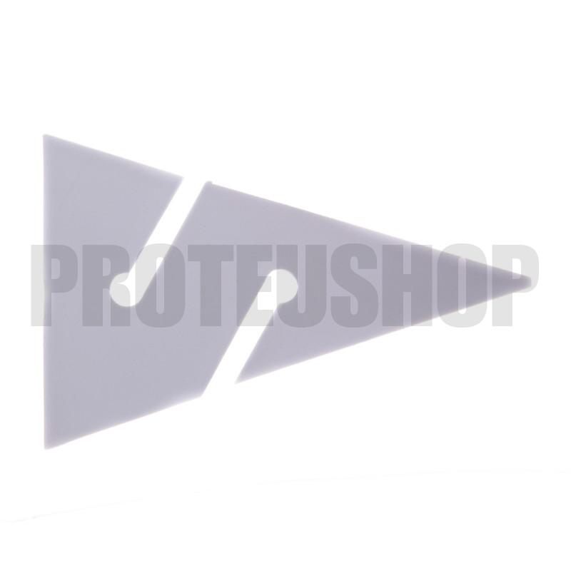Flèche spéléo blanche (65mm)