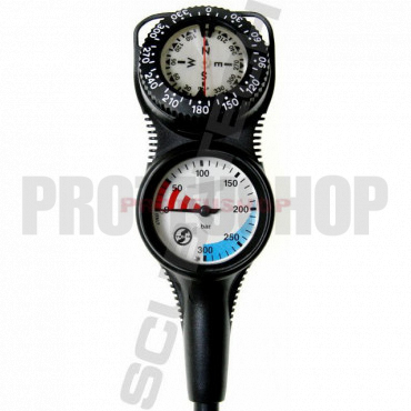 Console pressure gauge and compass